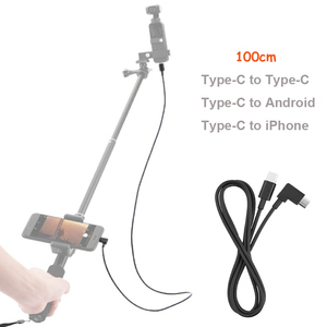 100cm Extension Cable for DJI OSMO POCKET Handheld Gimbal Camera Type-C to Type-C/Android/for iPhone Cable Line for Mavic Air 2