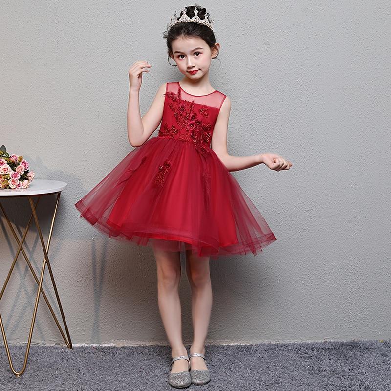 Girls Princess Dress Formal Dress Performance Wear 2019 Summer New Style Children Puffy Wedding Dress Skirt CHILDREN'S DAY Costu