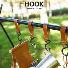 Hanging-Buckle Self-Driving Portable Hook Wind-Rope Travel PU 4-Piece Outdoor