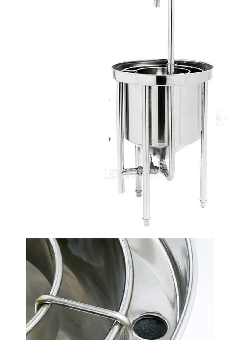 50kg Washing Capacity Automatic Stainless Steel Rice Washing Machine Commercial Large Water Pressure Rice Washing For Restaurant 7