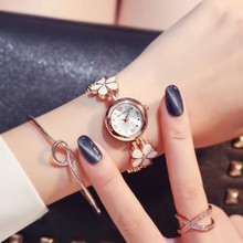 цена на New Fashion Flower Women Watches Crystal Stainless Steel Wristwatches Ladies Dress Quart Watch Women Clock Relogio Feminino