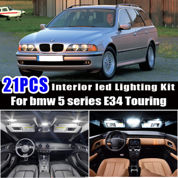 21x LED lamp Interior reading map Light Kit for 1991-1997 bmw 5 series E34 Touring Estate 518g 518i 520i 525i 525ix 530i 540i image