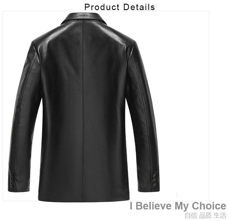 Genuine Leather Jacket Men Spring Autumn Real Sheepskin Coat Blazer Leather Jackets And Coats 2020 61Z6609 KJ2413