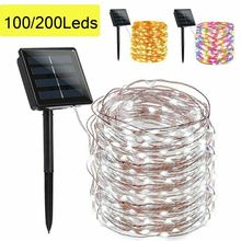 SHOPLED Led Solar String Fairy Lights 8 Modes Outdoor Solar Lawn Lamp 12M 22M Waterproof Christmas Party Garden Decoration