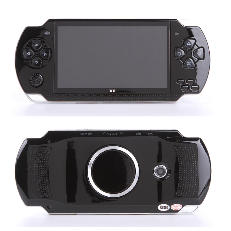 Handheld Game Console 4.3 inch screen mp4 player MP5 game player real 8GB support for 8Bit 16bit 32bit games,camera,video,e-book(China)
