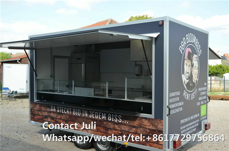 Multifunctional Street Outdoor 4m Length Hotdog Food Trailer Truck Kiosk And Food Van