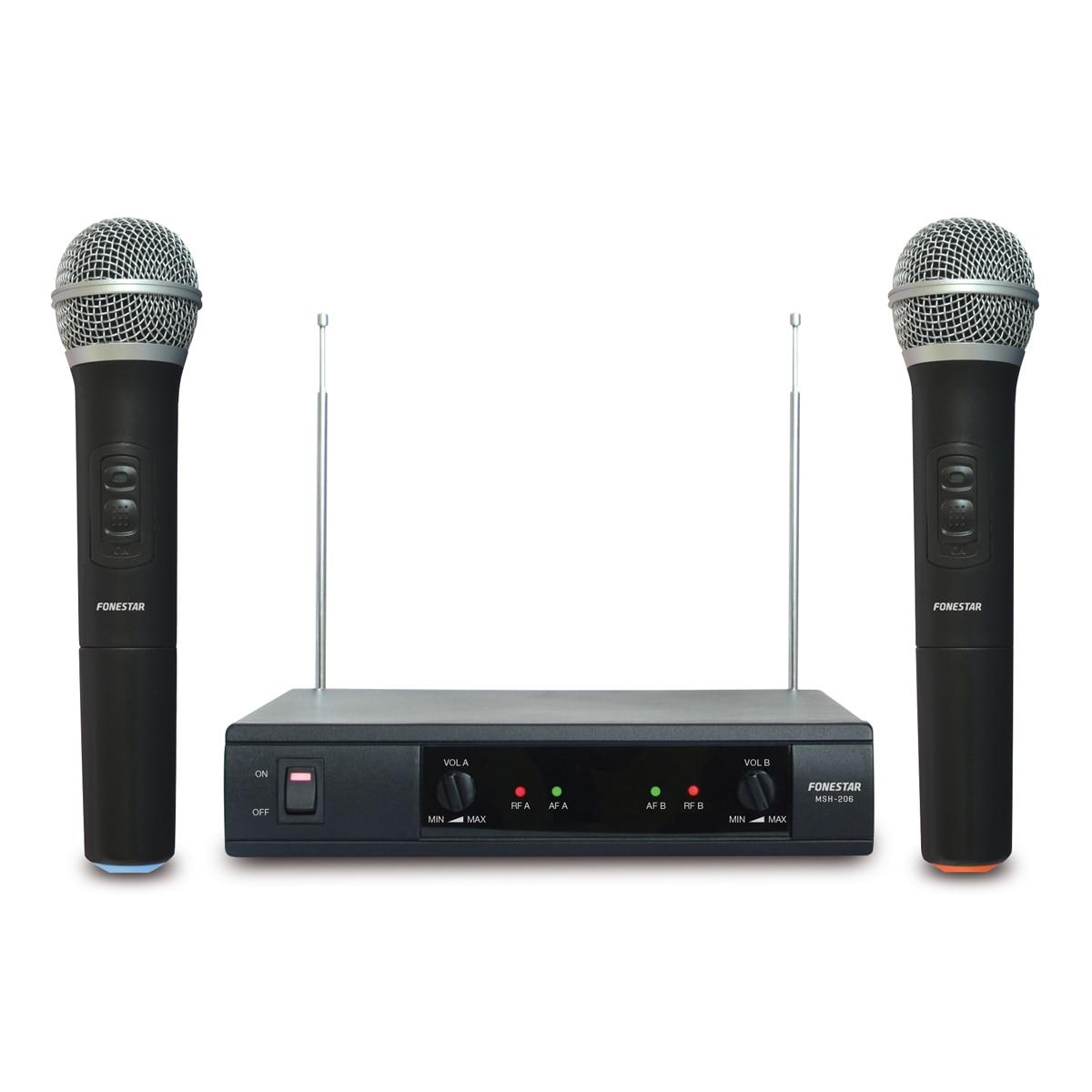 Microphones Inalambricos Double De Hand Fonestar Msh-206 VHF