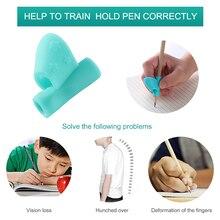 1/3 шт. Карандаши ручка правая рука помогает детям научиться загон и коррекция осанки при письме карандаш ручка петли Цвет в случайном порядке