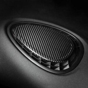 Image 2 - 탄소 섬유 대시 보드 센터 콘솔 공기 콘센트 장식 스티커 미니 쿠퍼 S F54 F55 F56 F57Car 인테리어 액세서리
