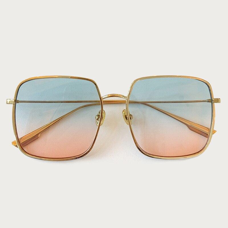 Classic Square Sunglasses Men Women Brand Designer Metal Frame Oversize Luxury Sun Glasses UV400 Gafas Oculos De Sol