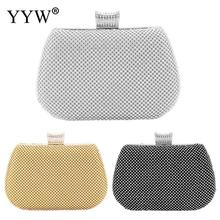 Silver Evening Party Clutch Bag Crystal Wedding Purse Luxury Rhinestone Sac Mini Clutches With White Rhinestones Pochette Femme