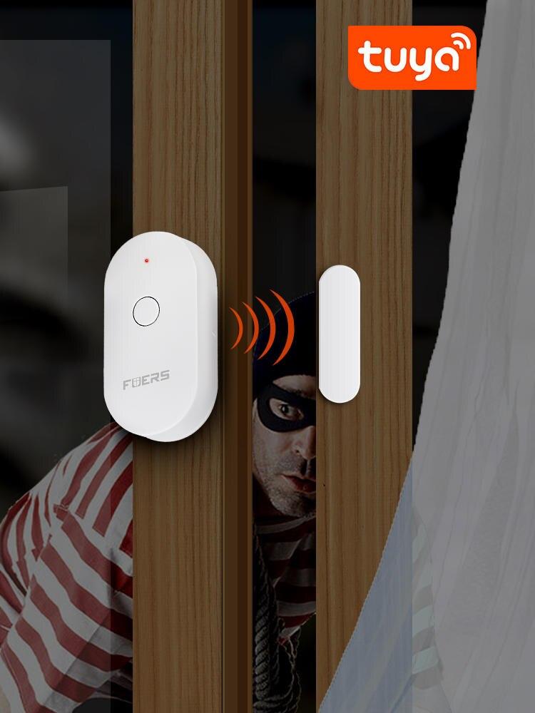 Door-Sensor Magnetic-Switch Security-Alarm Tuya Fuers Alert Smart-Wifi
