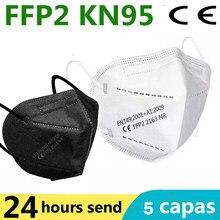 Ffp2 máscara protetora kn95 máscaras faciais 5-camadas filtro maske proteger ce fpp2 boca máscara de segurança anti poeira máscara de cuidados de saúde rápido enviar
