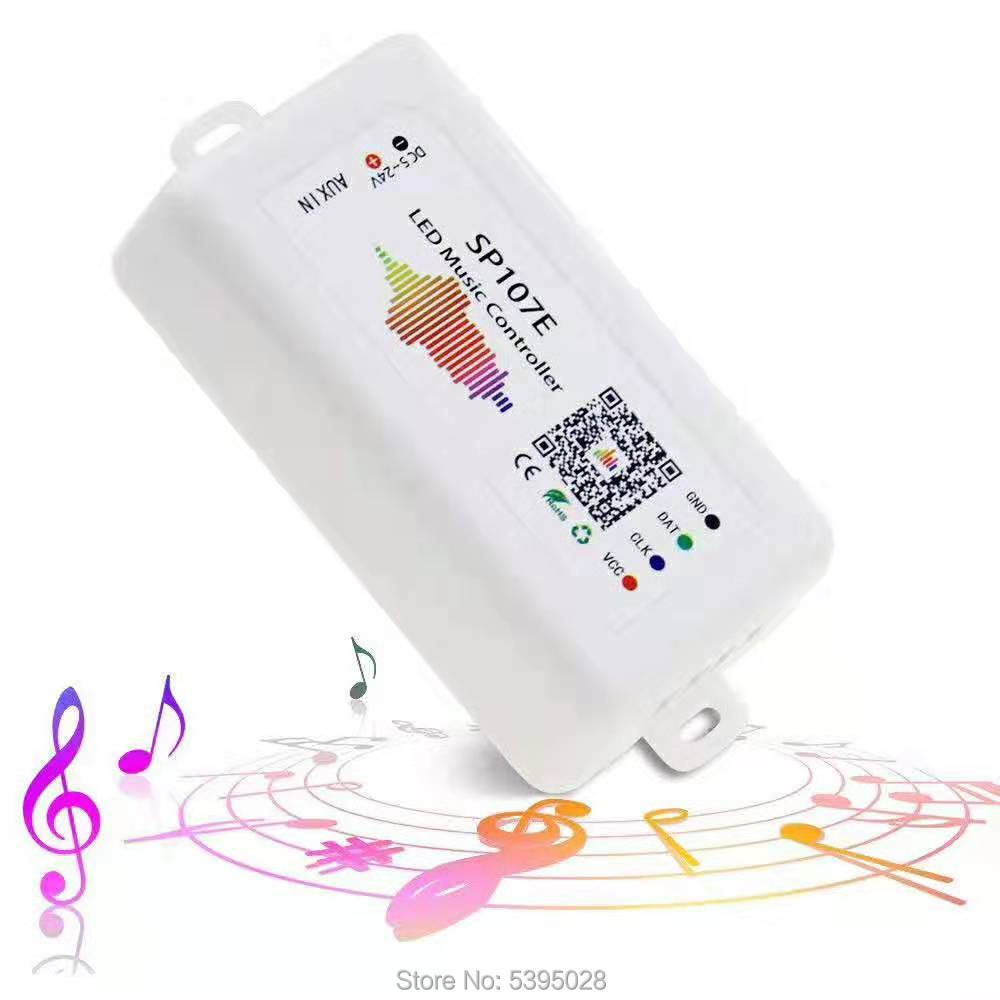 Bluetooth Music RGB Controller SP107E Is Commonly Used In WS2812BWS2811SK6812 DMX512  Led Strip Pixel Lamp RGB/RGBW Dc5v-24v