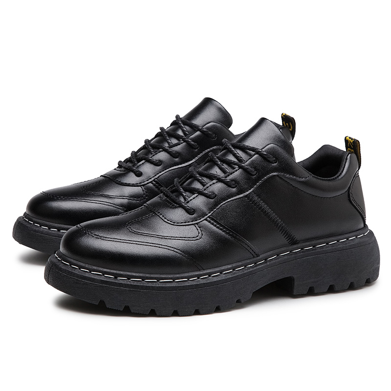 Breathable Men Flat Shoes Lace-up Leather Shoes Comfortable Spring Autumn Fashion Breathable Male Walking Shoes %