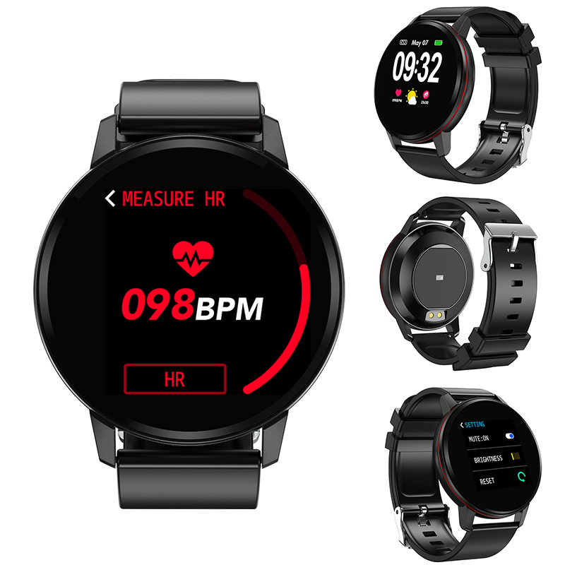 eyefun Smart bracelet new men and women full touch screen watch heart rate blood pressure sports step monitoring smart watch