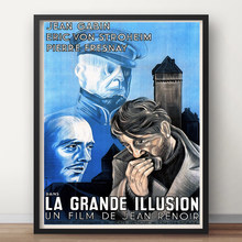 A grande ilusão jean renoir frança filme francês vintage retro filme decorativo cartaz da parede lona adesivo decoração sua casa
