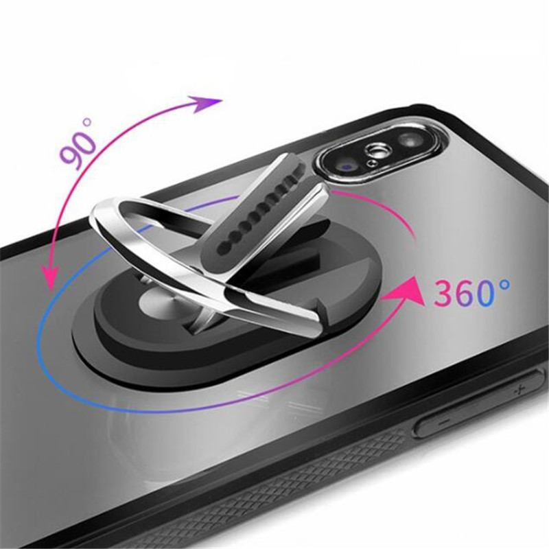 UVR Metal Luxury Oval 2 in 1 Multifunctional Finger Ring Smartphone Stand Holder Mobile Phone Holder For iPhone Xiaomi All Phone