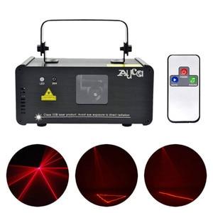 Image 1 - AUCD מיני IR מרחוק 8CH DMX 100mW אדום לייזר DPSS מקרן אורות דיסקו DJ חג המולד המפלגה להראות קרן סריקה שלב תאורה DM R100