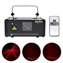 AUCD Mini IR Uzaktan 8CH DMX 100mW Kırmızı Lazer DPSS Projektör Işıkları Disko DJ Noel Parti Gösterisi Işın Tarama sahne Aydınlatma DM R100