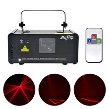 Aucd 미니 ir 원격 8ch dmx 100 mw 레드 레이저 dpss 프로젝터 조명 디스코 dj 크리스마스 파티 쇼 빔 스캔 무대 조명 DM R100