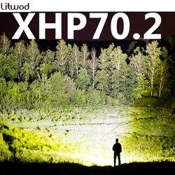 Z402806 Новое поступление XHP70.2 32W 3200lm мощная светодиодная фара мощный налобный фонарь фонарик Фонарь