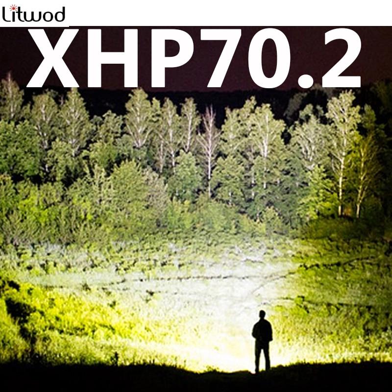 Z402806 New Arrive XHP70.2 32W 3200lm Powerful Led Headlamp Headlight Zoom Head Lamp Light Flashlight Torch Lantern