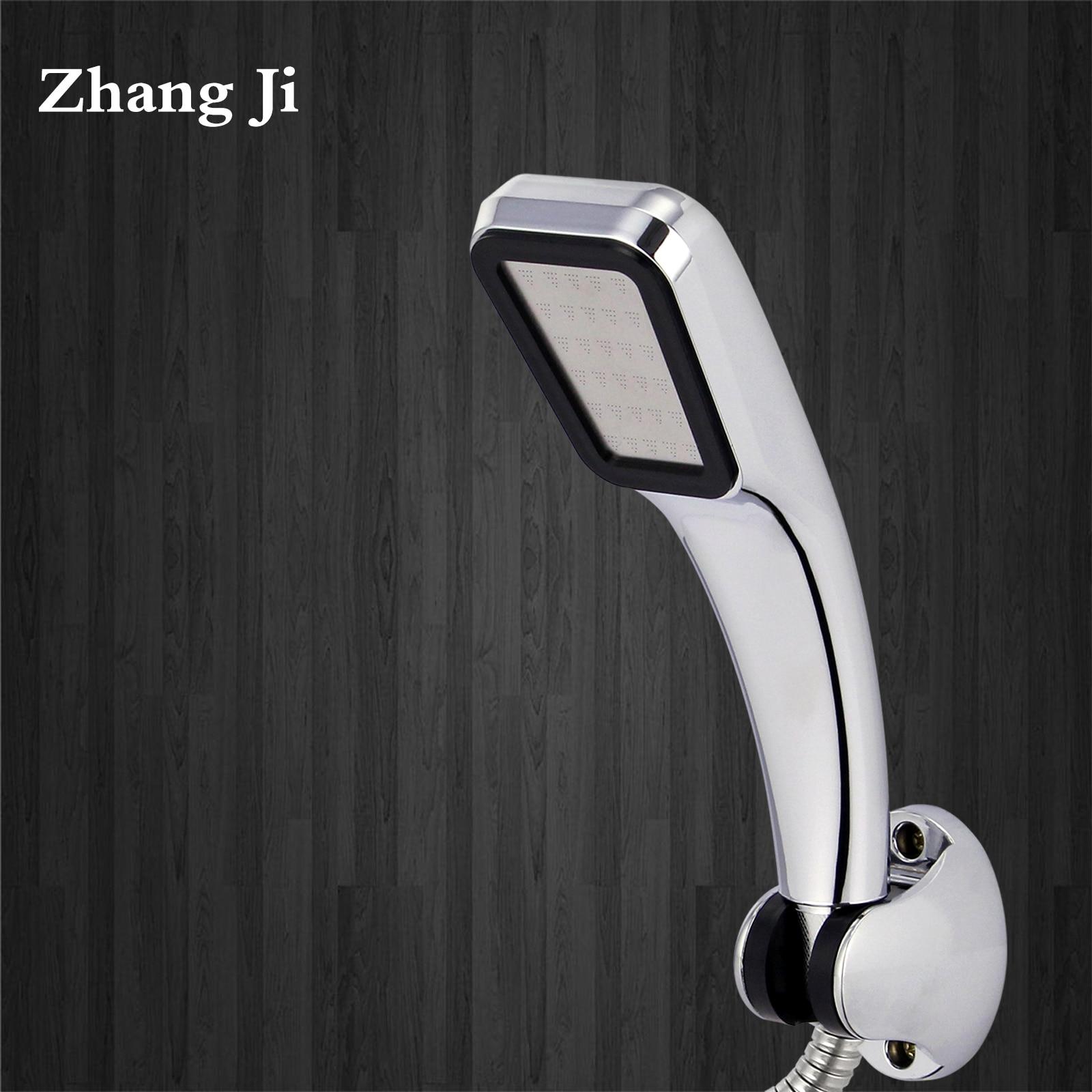 ZhangJi gorąca sprzedaż 300 otwory głowica prysznicowa oszczędzania wody przepływu z Chrome ABS deszcz rozpylacz ciśnieniowy dysza łazienka akcesoria