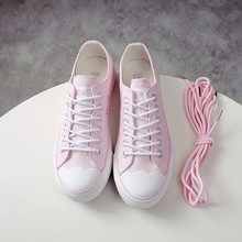 2020 New Students White Pink Breathable Casual Shoes Womens Canvas