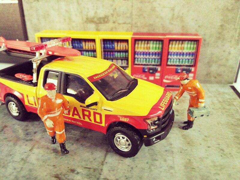 1:64 alta simulação modelo de carro fujiwara tofu loja cena brinquedo coque máquina de limão bebida exibir acessórios para presentes