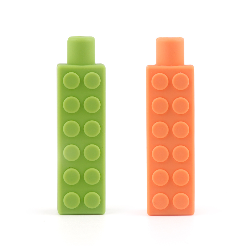 TYRY.HU 1pcs Silicone Brick Stick DIY Teething Necklace Accessories