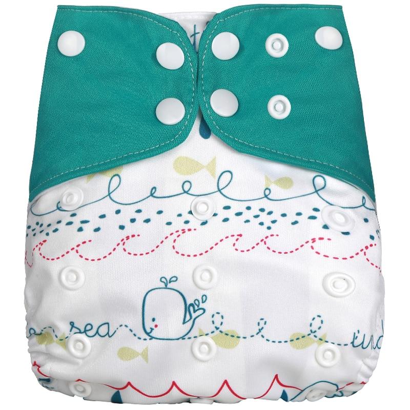 [Simfamily] 1 шт. Многоразовые водонепроницаемые детские подгузники с цифровым принтом Один размер Карманные детские подгузники цена подходит для 3-15 кг - Цвет: NO6