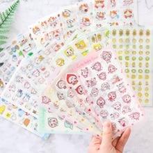 2020 Каваи канцелярские наклейки милый мультфильм животных пвх наклейки Дневник Записки украшения Childrengift