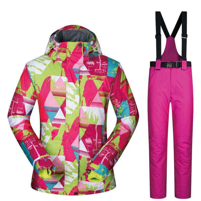 Femmes hiver Ski de plein air Snowboard costumes randonnée Camping neige Sport imperméable manteaux Snowboard veste Ski pantalon pour dames