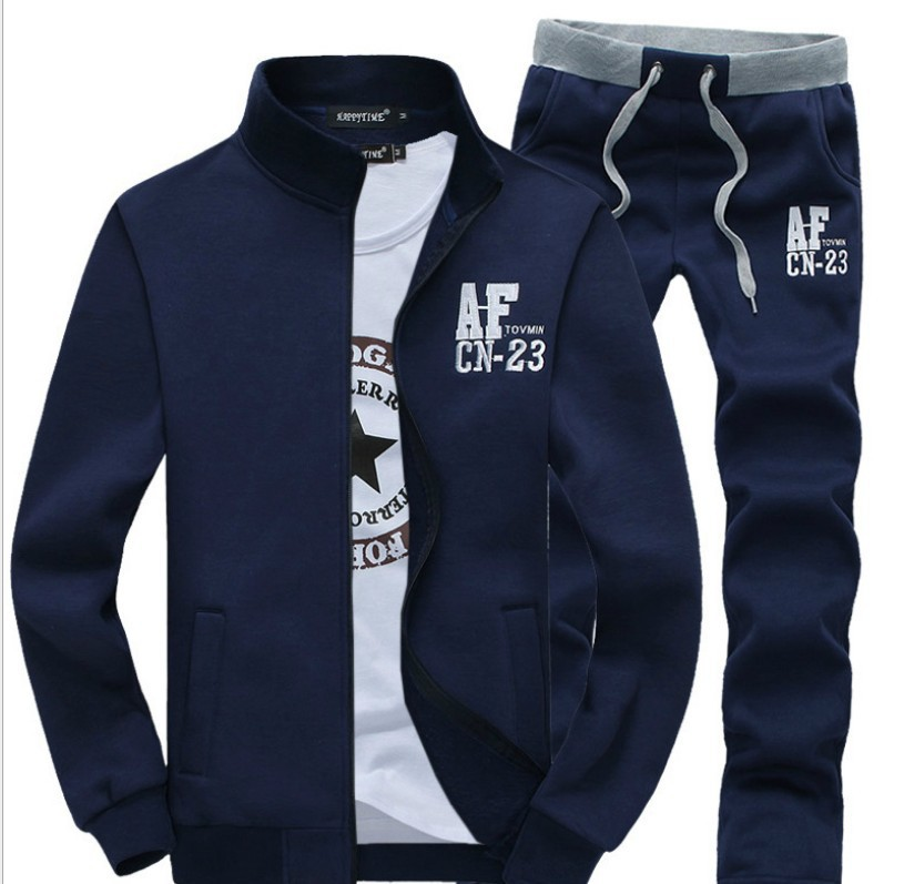 Spring And Autumn Men Hoodie Suit Sports Set Men's AF Long Sleeve Casual Sweatshirt Men'S Wear
