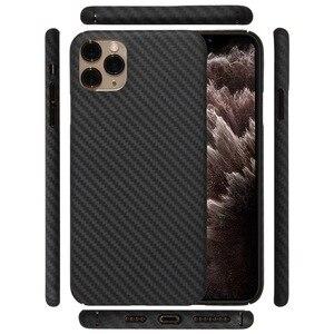 Image 1 - Kevlarจริงคาร์บอนไฟเบอร์โทรศัพท์กรณีแฟชั่นสำหรับIphone 11 Pro Max Ultra Thin Anti Fall HardธุรกิจCase 11 X Shell