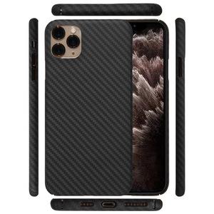 Image 1 - Kevlar real pure carbon fiber fashion phone case for iphone 11 pro max Ultra thin Anti fall hard business cover case 11 X shell