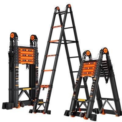1.7*1.7m multifunctional foldable deformable telescopic aluminum alloy herringbone/I-shaped ladder/straight ladder anti-tilt