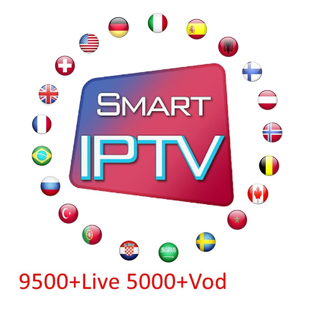 IPTV Subscription Europe Italian French Polish Belgium Turkish Canada Portugal UK Iptv Code For Android Tv Box H96 X96 Smart Pc