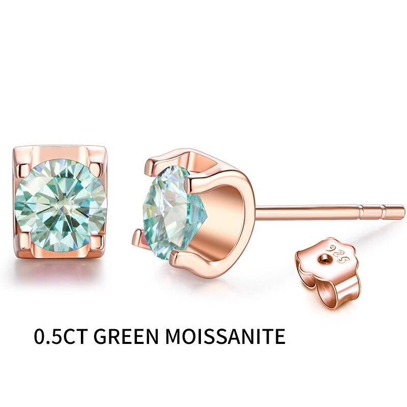0.5 green moissanite