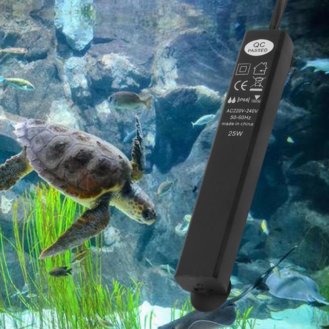 Tiges de chauffage réglables Mini réservoir de tortue tige chauffante chauffe-réservoir de poisson Thermostat deau daquarium produit de contrôle de température pour animaux de compagnie