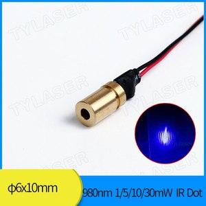 6 мм нм 1 мВт 5 мВт 10 мВт ИК-точечный лазерный модуль промышленного класса APC Driver
