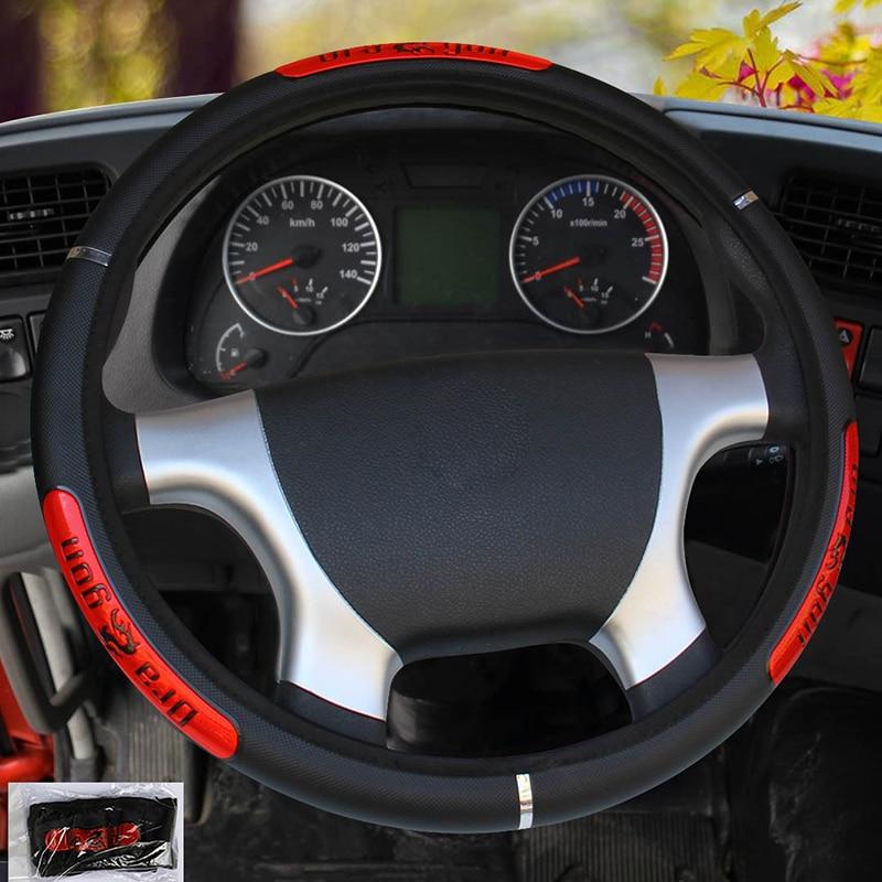 Чехол рулевого колеса автомобиля диаметром 36 38 40 42 45 47 50 см 7 размеров на выбор для автомобиля грузовика автомобиля рулевого колеса автомоби...