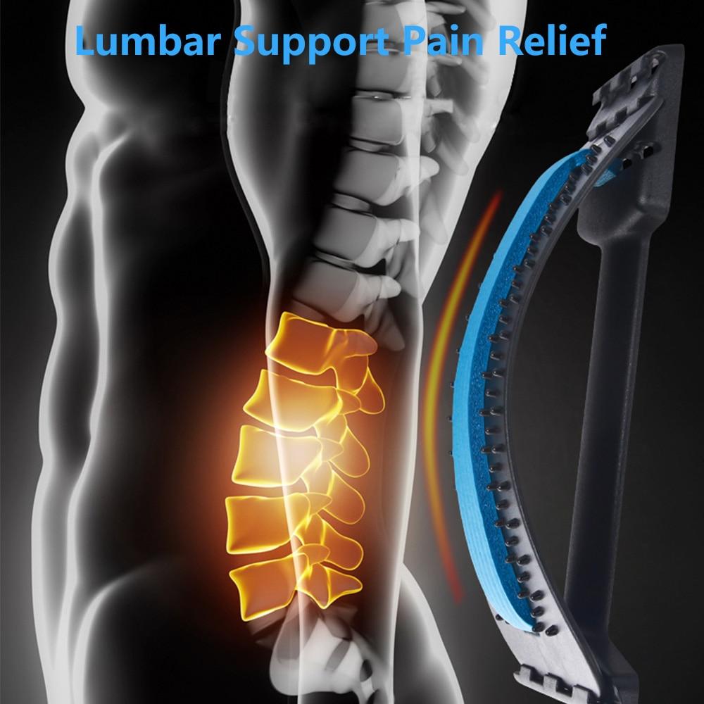 Back Massager Stretcher Equipment Massageador Magic Support Stretch Fitness Relaxation Spine Pain Lumbar Relief Back Stretcher