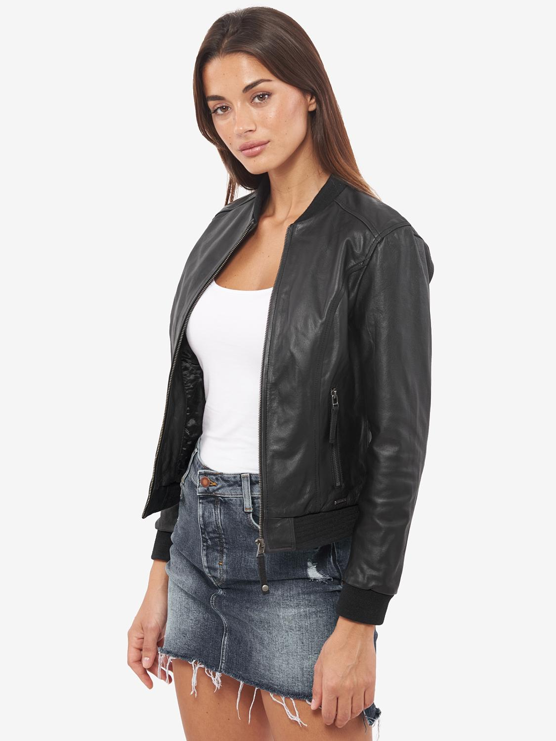 VAINAS European Brand  Women Genuine Buffalo Leather Jacket For Women Real Leather  Motorcycle Jackets Biker Jackets Niovi