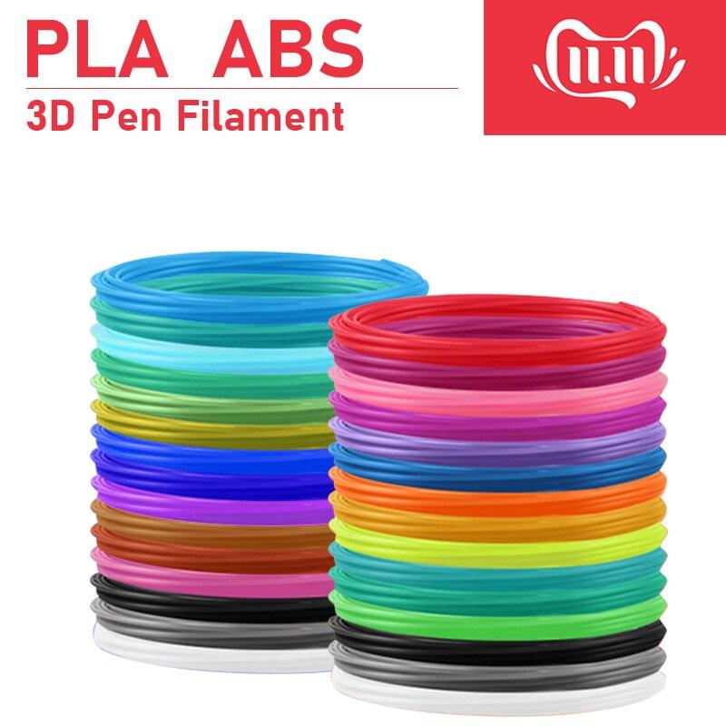 3d impressora abs/pla filamento, diâmetro 1.75mm plástico filamento abs/pla plástico 20 cores, segurança nenhuma poluição