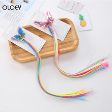 Children's Toys Girls Accessories Makeu Colorful Pretty Braided Hair Welding Sumber Hair Rainbow Makeup Set  For Girls