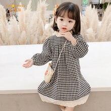 Платье для маленькой девочки на осень осенняя одежда с длинным