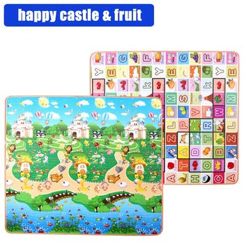 0.5-1.5CM thickness Baby Activity Mat Double sided Multiple sizes Foam Crawling mat ABC&animal Educational Carpet foam floor image