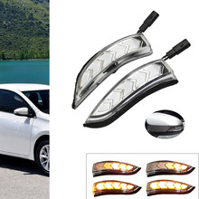 Dynamic Turn Signal Blinker Sequential Side Mirror Light For Toyota Camry 2012-2017 Altis Corolla 2014-2017 Vios Yaris 2014-2018